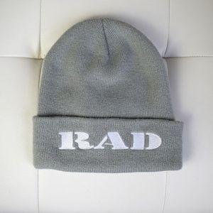 Rad Cuffed Knit Gray Beanie
